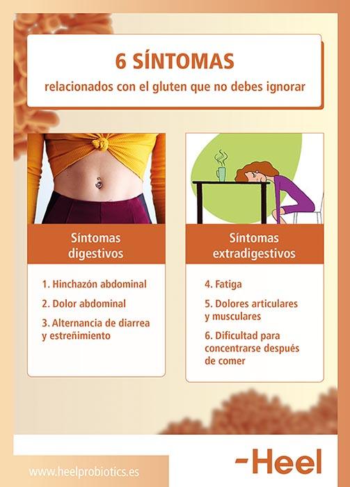 Síntomas de la intolerancia al gluten - HeelProbiotics - HeelEspaña