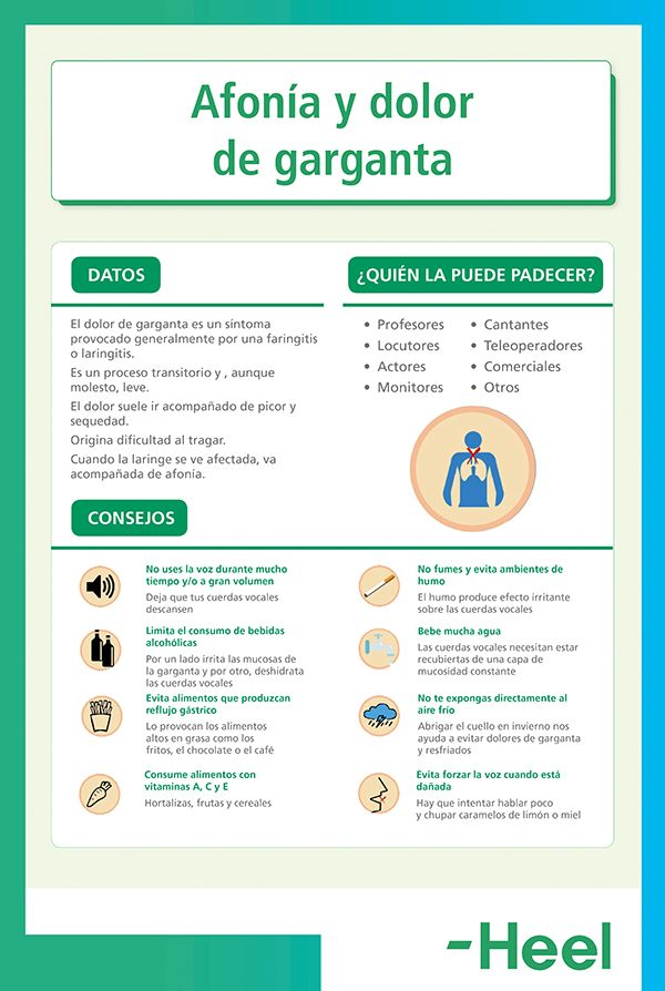 Dolor de garganta: consejos - HeelEspaña