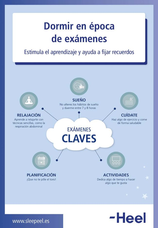 Dormir bien para estimular el aprendizaje: sueno examenes heelespana e1550059576136 - HeelEspaña