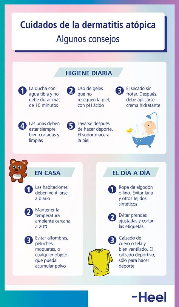 Cómo cuidarse de la dermatitis atópica - HeelEspaña