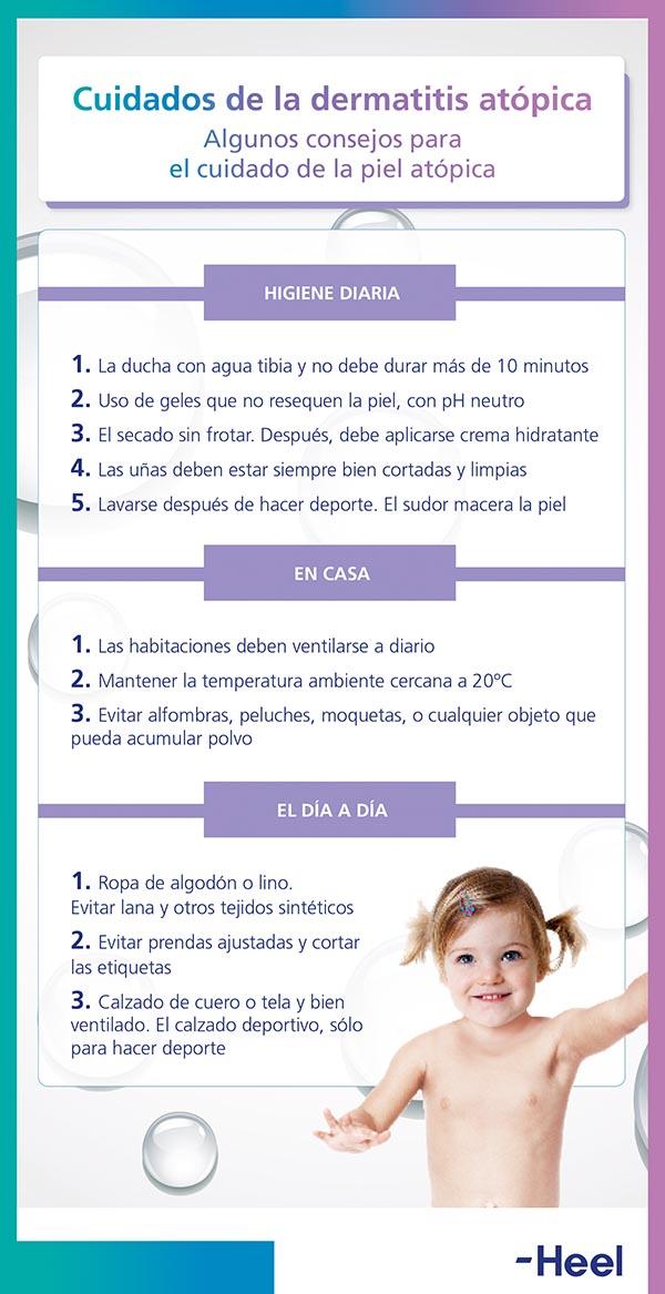 Cuidados diarios para la dermatitis atópica - HeelEspaña