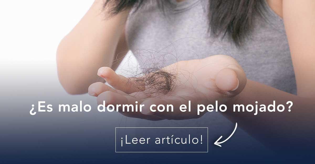 dormir con el cabello mojado puede causar piojos