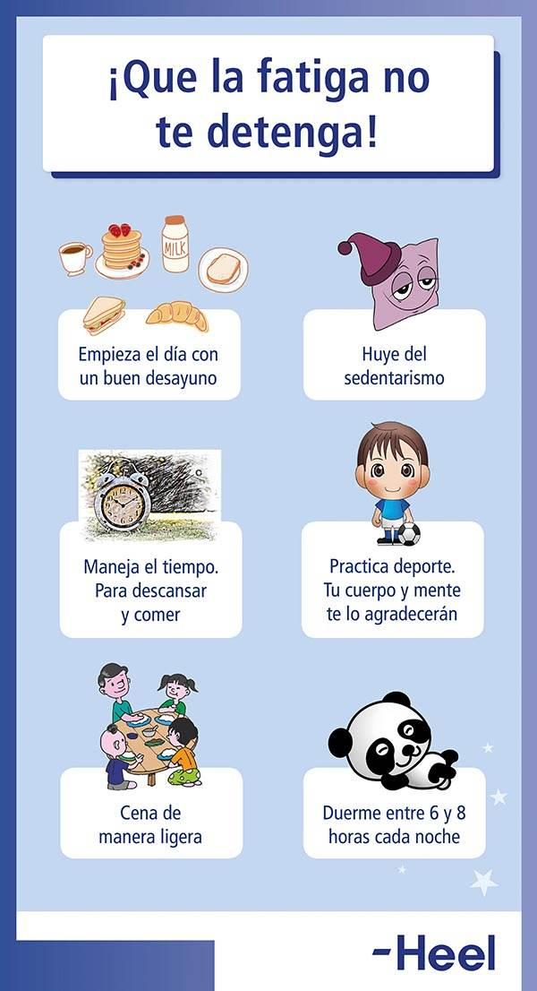 Tratamiento para los síntomas de fatiga - HeelEspaña