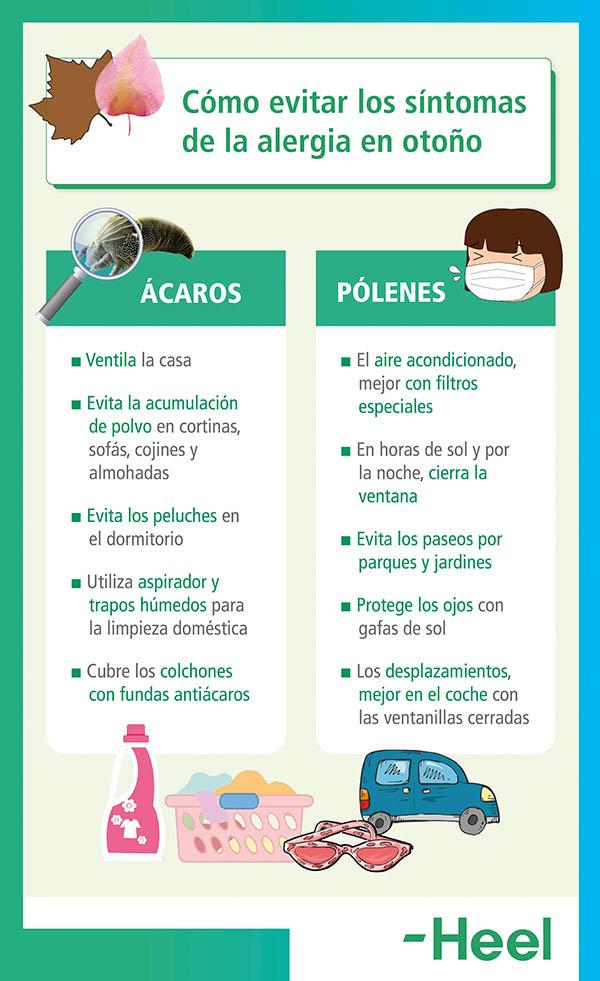 Controla los síntomas de la alergia en otoño - HeelEspaña