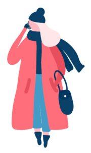 Cuidados de la piel en los días de frío: mujer abrigo invierno heelespana 180x300 - HeelEspaña
