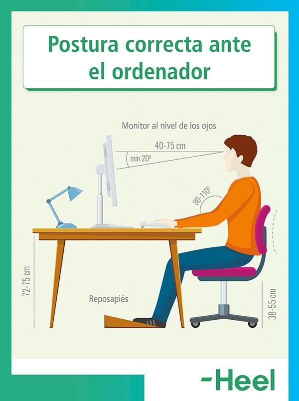 ¿Cuál es la postura correcta ante el ordenador? - HeelEspaña