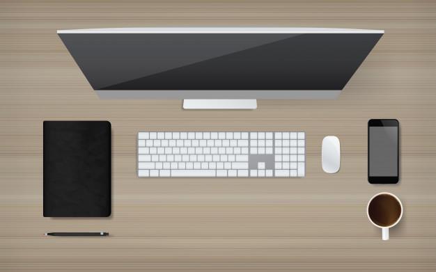 Postura correcta ante el ordenador: vista superior computadora - HeelEspaña