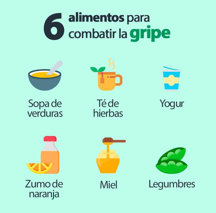 Qué alimentos son buenos contra la gripe - HeelEspaña