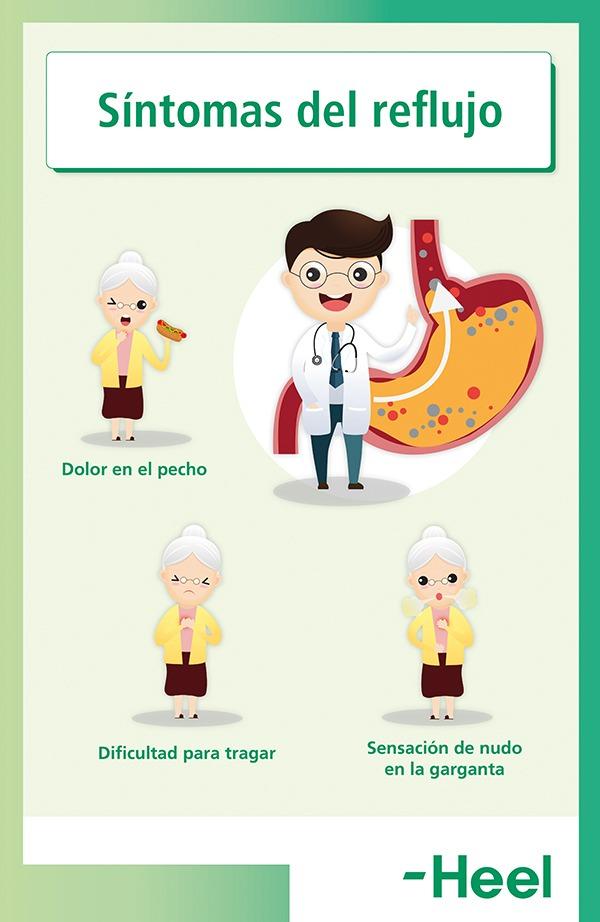Qué síntomas provoca el reflujo gástrico - HeelEspaña
