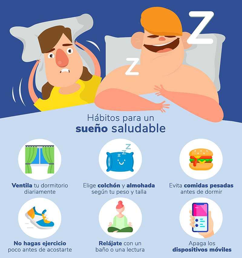 Cómo evitar que el estrés nos quite el sueño: habitos sueno saludable heelespana - HeelEspaña