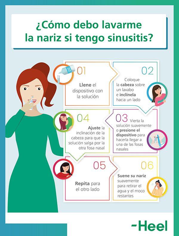 Cómo se debe lavar la nariz cuando se padece sinusitis