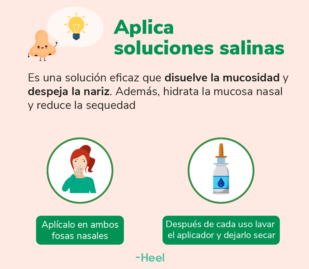 Soluciones salinas para la congestión nasal por sinusitis