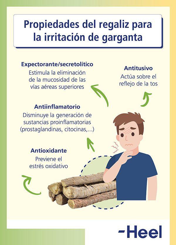 Aliviar el picor de garganta con regaliz