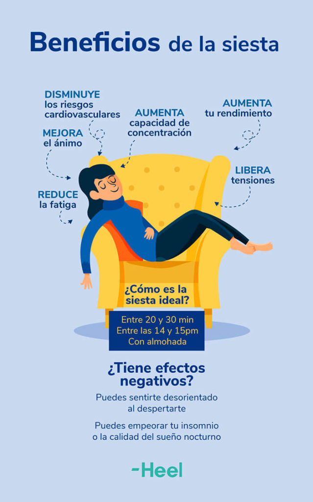 Beneficios de echarse una siesta