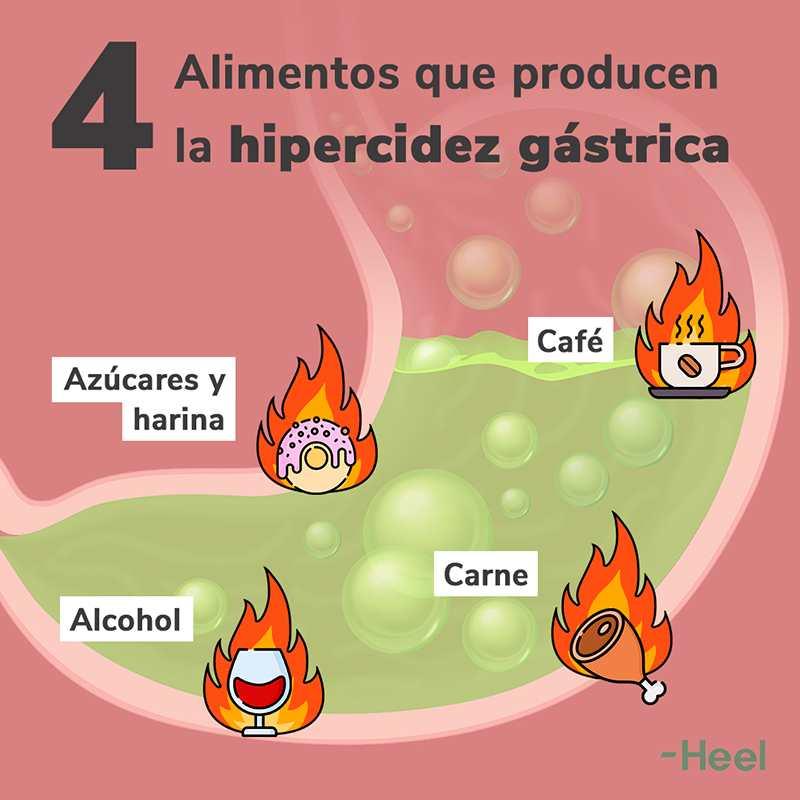 Alimentos que producen acidez o reflujo gástrico