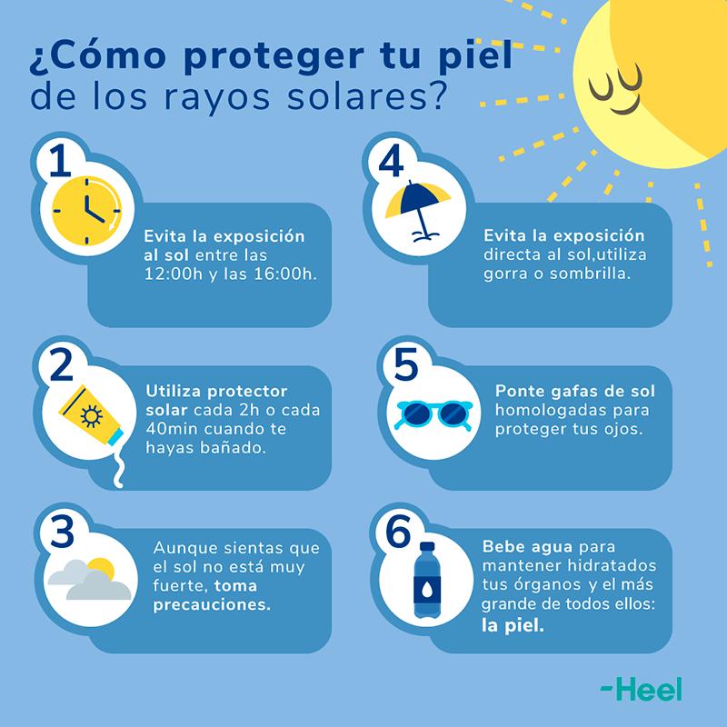 Cómo proteger tu piel de los rayos solares