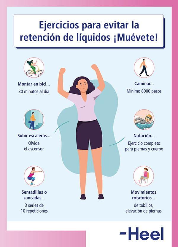 Cuáles son los mejores ejercicios para evitar la retención de líquidos