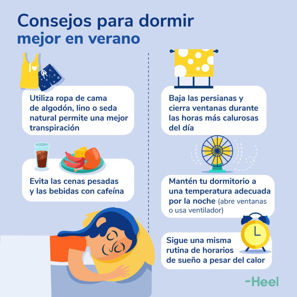 Noches de verano. ¡No puedo dormir!: Consejos Dormir Verano 1080x1080px 1024x1024 - HeelEspaña