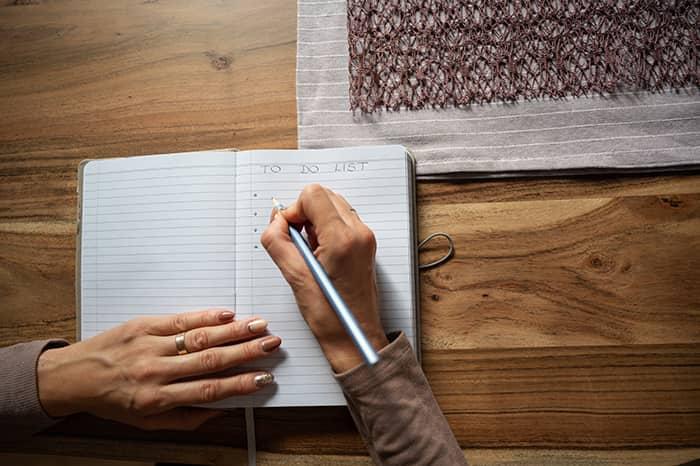Hacer la lista con hábitos saludables